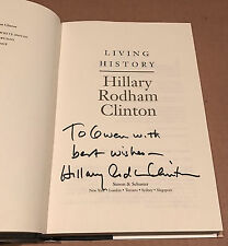 Hillary Clinton - Signed Living History Book Full Name Autographed Hardcover 2