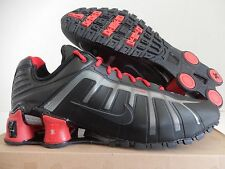 NIKE SHOX O'LEVEN TURBO BLACK-SPORT RED-METALLIC SILVER SZ 12 [429869-004]