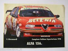 VECCHIO ADESIVO / Old Sticker _ALFA ROMEO ALFA 156 GIOVANARDI 1998 (cm 15 x 11)
