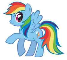 "Rainbow Dash My Little Pony Iron On Transfer 5""x5.5"" for LIGHT Colored Fabric"