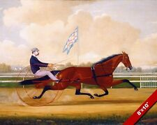 HORSE RACING BUDD FOBLE & GOLDSMITH MAID BELMONT PAINTING ART REAL CANVAS PRINT