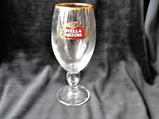 "COLLECTABLE GILDED RIM LAGER GLASS STELLA ARTOIS CHALICE  GREAT COND 7.5"" HIGH"