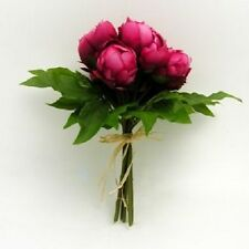 Cerise Hot Pink Peony Bouquet Wedding Flowers Craft Home Handtied Silk 7 Stems