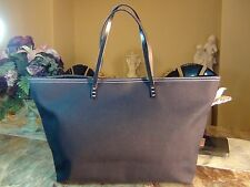 US seller Authentic FENDI BLUE DENIM LEATHER TOTE BAG PURSE Good