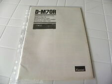 Sansui D-M70R Owner's Manual  Operating Instructions Istruzioni New