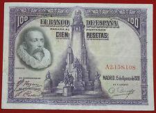 España 100 pesetas billete Don Quijote 1928 P 76a