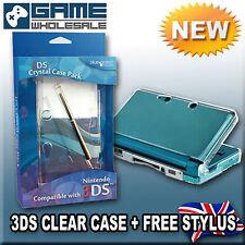 Qualität Blau Ocean Crystal Klar Harte Schutzhülle & Stylus Für Nintendo 3DS