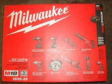 Milwaukee M18 18-Volt Lithium-Ion Cordless Combo Kit (9-Tool) 2695-29