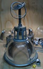 "50's Vintage Holophane 682 Lights 14"" Industrial Shade Warehouse Factory Lobay"
