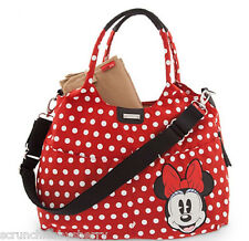 Disney Store Minnie Mouse Diaper Bag Storksak Red New 2015