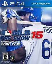 MLB 15: The Show -- 10th Anniversary Edition ADULT OWNED, GENTLY USED PS4 GAME