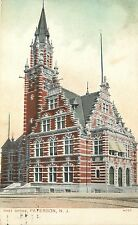 Postcard; Ornate Post Office, Paterson, NJ, Passaic County Posted 1912