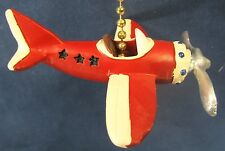 Vintage looking plane open cockpit  ceiling fan or light pull resin  home decor