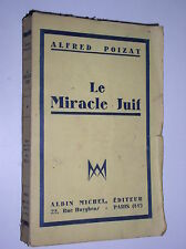 ALFRED POIZAT - LE MIRACLE JUIF - 1932