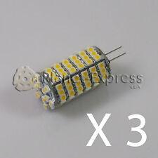 3 x Glühbirne G4 120 Led SMD Weiß Kalt 590 Lumen 12V DC wohnwagen boot auto