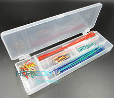 2PCS 140pcs Solderless Breadboard Jumper Cable Wire Kit Box DIY For Arduino