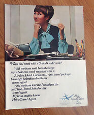 1967 United AirLines Ad  What Do I Need with a United Credit Card?
