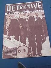 Détective 1955 482 SAINT-JEAN-BONNEFONDS MOERKERKE MENTON BAS CHANEY BELLOY SUR