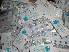 Girls Kids Floral Neon Flowers Butterflies Hair Snaps Buttons 125 pks (750 Pcs)