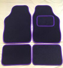 CAR FLOOR MATS- BLACK WITH PURPLE TRIM FOR FORD FOCUS FIESTA MONDEO KA