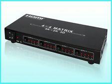 HDCVT  HDM-944 High Quality HDMI Matrix 4x4 HDMI 1.4 4K *2K