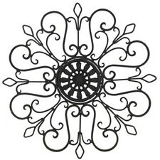 "13""  Artistic Lovely Metal Wall Decor Fleur-de-lis design. Home decor"