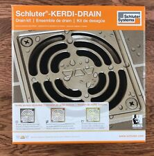 Schluter Kerdi Shower Drain Kit Brushed Copper/Bronze PVC