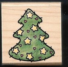 CHRISTMAS PINE FIR TREE PATCH Wood A1442C RUBBER STAMPEDE STAMP Craft Hobby
