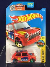 Hot Wheels Toy Car - Morris Mini Cooper - HW Art Car - Red/Orange Color