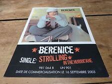 BERENICE - STROLLING IN THE HURRICANE  !!!!!PLAN MEDIA / PRESS KIT !!!!!!!!!!