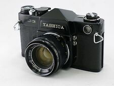 Yashica Black Paint J3 SLR camera with Black Paint 5cm f/2 Lens, Very Rare,