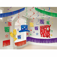 Large Pub New Year Party Room Decorating Kit Wall & Ceiling Bright Jewel Colour