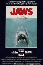 "Jaws POSTER ""Shark Attack, Cult Classic Horror Movie"" BRAND NEW Licensed Art"