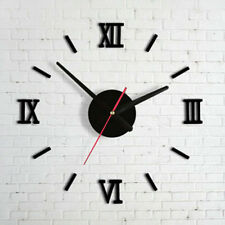 3D Sticker Modern DIY Home Mirror Effect  Interior Roman Wall Clock Wall Clock