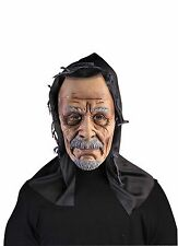 Old Man Grandpa Scary Vinyl Mens Halloween Costume Hooded Mask