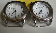 SET OF 2 SILVER  FINISH  WATCH FACES FOR BEADING,RIBBON OR OTHER USE