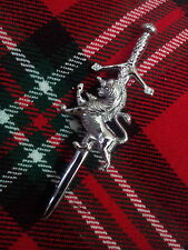 NEW SCOTTISH LION RAMPANT MOUNT KILT PIN/HIGHLAND SWORD LION KILT PIN/KILT PIN