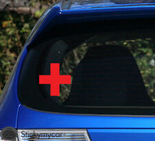Red Cross awesome car decal sticker red help needed