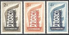 Luxembourg 1956 Europa/Building Europe/Tower/Politics/Animation 3v set (n42305)