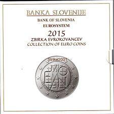 NEW !!! Euro SLOVENIA 2015 Folder Ufficiale 10 monete FDC NEW !!!