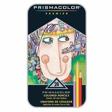 PRISMACOLOR PREMIER Colored Pencils - Tin Box  Set of 24. NEW. FREE SHIPPING**