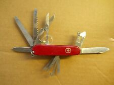 Victorinox Champion Plus Swiss Army knife in red - with leather sheath