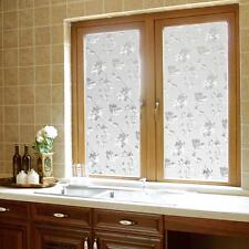 New Sweet 45x100cm Frosted Glass Window Door Flower Sticker Film Bathroom Decor