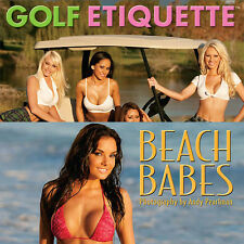 NEW - ComboPack - 2 Different 2013 Calendars - Golf Girls and Bikini Babes