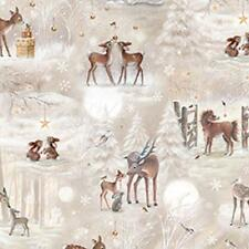 Fat Quarter Woodland Wonder Winter Animals Scenic 100% Quilting Fabric