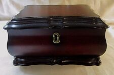 THE BOMBAY CO. CHERRY WOOD JEWELRY BOX - Bombay Chest Styling, Brass Keyhole