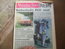 Motoring News 2 October 1985 Ken Tyrrell Martin Brundle Christian Danner GP