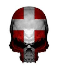 Denmark Skull Decal - Dutch Flag Sticker Graphic