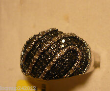 Black & White Diamond Cocktail Ring Sz.9  36diamonds .35tcw MSRP$724