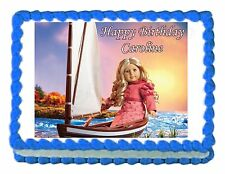 American Girl CAROLINE edible party cake topper decoration frosting sheet image